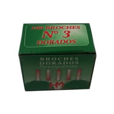 BROCHE MARIPOSA DORADO Nº 3