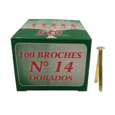 BROCHE MARIPOSA DORADO Nº 14