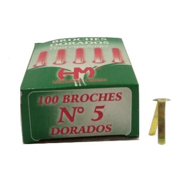 BROCHE MARIPOSA DORADO Nº 5