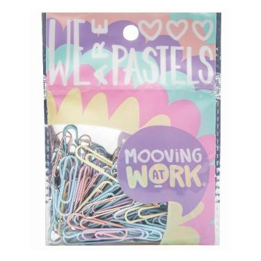 CLIPS MOOVING 33 MM X 60 PASTEL BLISTER